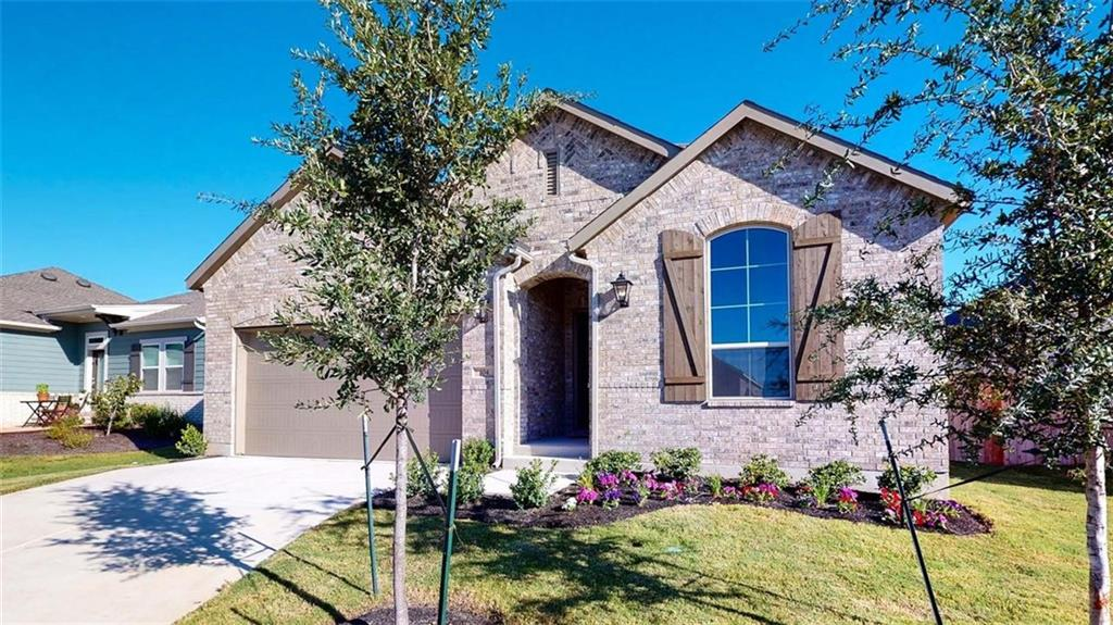 MLS# 7845757 - Built by Highland Homes - Ready Now! ~ 1 story, 4 bedroom, 3 full baths, upgraded tile flooring, carpet in bedrooms, silestone kitchen counter tops with white cabinets, bay window in master bedroom, master bath has separated tub and shower,  extended outdoor living, additional hose bib, full sod and sprinklers.