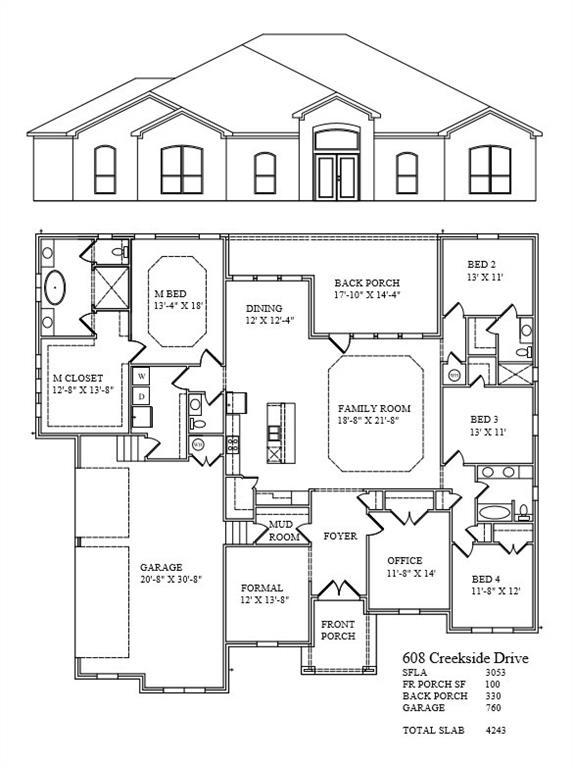 608 Creekside DR, Bell, Texas 76513, 4 Bedrooms Bedrooms, ,3 BathroomsBathrooms,Residential,For Sale,Creekside,9923891