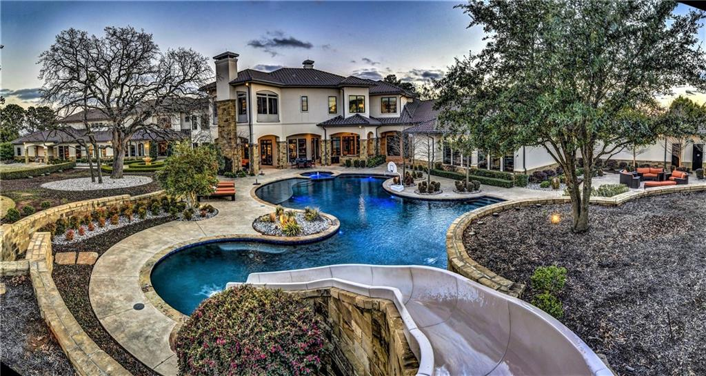 Spectacular 4.8 ac estate, custom built by one of the world's greatest basketball players, located in prestigious suburb of Southlake, 10 mins from Dallas/Fort Worth Intl Airport.                                                2-story entrance foyer, wood floors, luxe details and spectacular grand staircase lend to grand scale entertaining, in addition to family living. 16,477 SF home has all the whistles and bells plus indoor regulation size basketball court.  Offered w/extensive furnishingsGuest Accommodations: Yes Restrictions: Yes