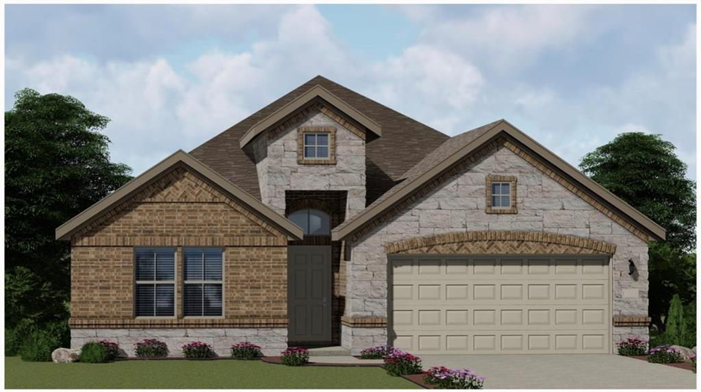 Two story with a Spacious living area. Large master suite with separate shower and tub. Three spacious secondary bedrooms. Covered patio with an option for extension.