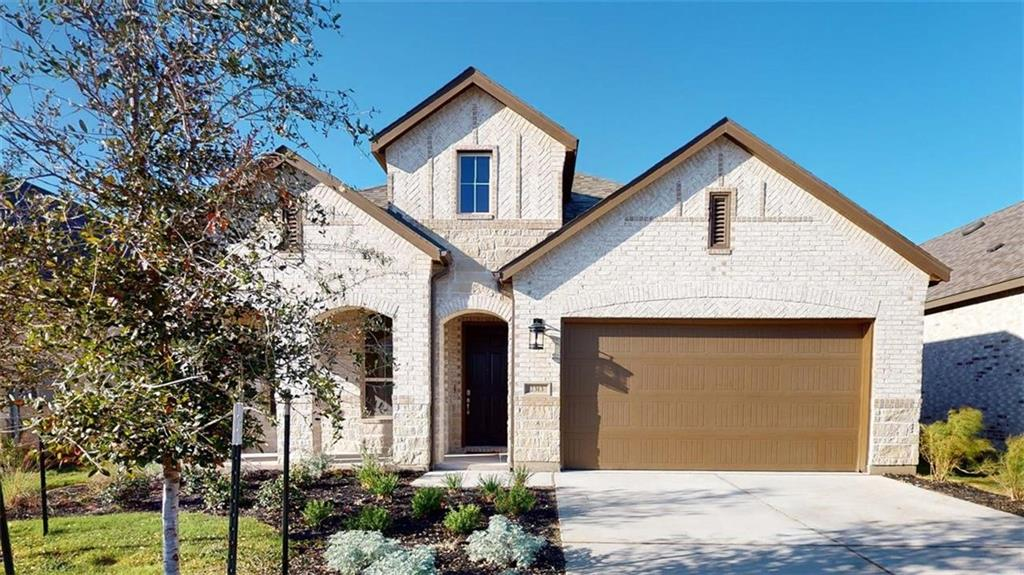 MLS# 7568591 - Built by Highland Homes - October completion! ~ Stunning one story featuring stone and brick exterior. Upgrades include silestone counter-tops, white cabinetry, wood look tile, built in stainless steel appliances. Smart Home Technology, Tankless water heaters and full sod and sprinkler system!