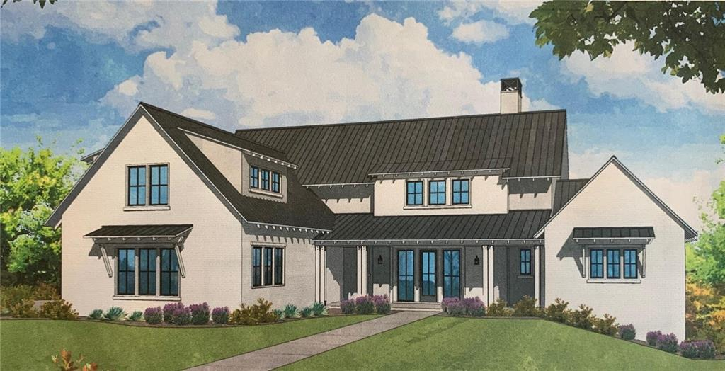 This farmhouse-style plan boasts panoramic views, offered exclusively in the prestigious Peninsula at Rough Hollow. Great room invites you to enjoy a stone fireplace, as well as sliding glass doors leading to the outdoor covered patio, extending the owner's living space. Legacy DCS is a third-generation all Green builder, offering many energy-efficient features. The community includes amenities for all, such as the fitness center, four pools, a lazy river, 22 miles of hike/bike trails, and much more!