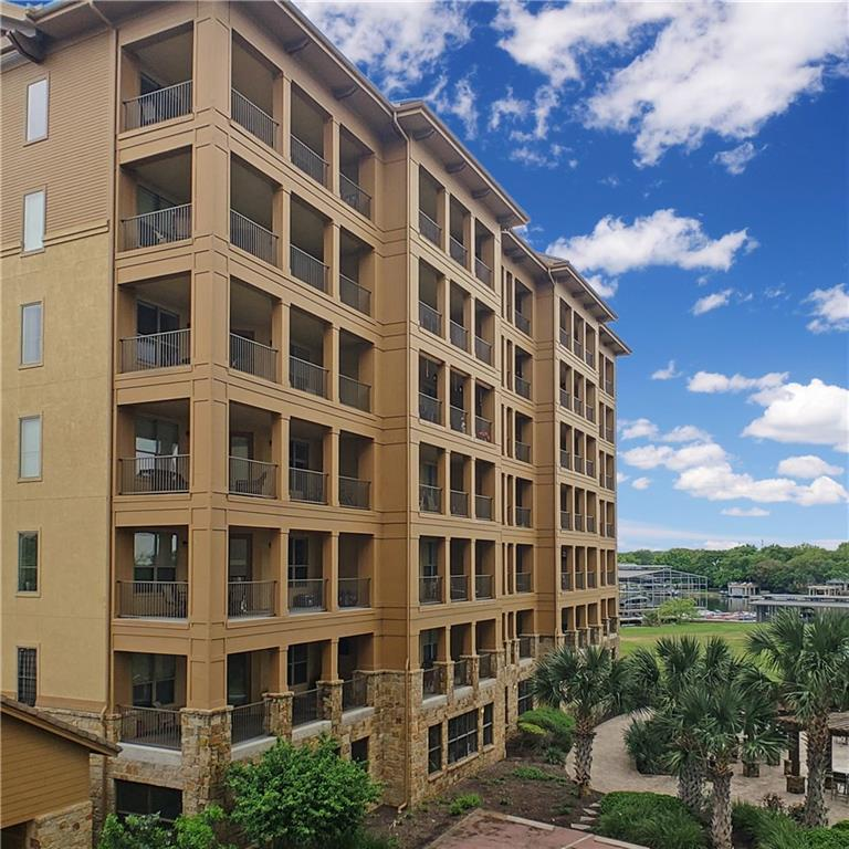 Great single story condo at the fantastic Horseshoe Bay Resort!  This is a 1/1 with reserved parking, a locked storage area, bicycle racks, and fabulous amenities. The balcony/patio has a view of the Bay. Included in the amenities are Pools, Tennis, Golf, Putting Facilities, Marina, 4+ Restaurants, Yacht Club, Boat Club, Kids' Club, events and more. Rated #1 as Central Texas Amenity Package for a Destination Experience! Easy and beautiful drive from Austin.FEMA - Unknown Restrictions: Yes