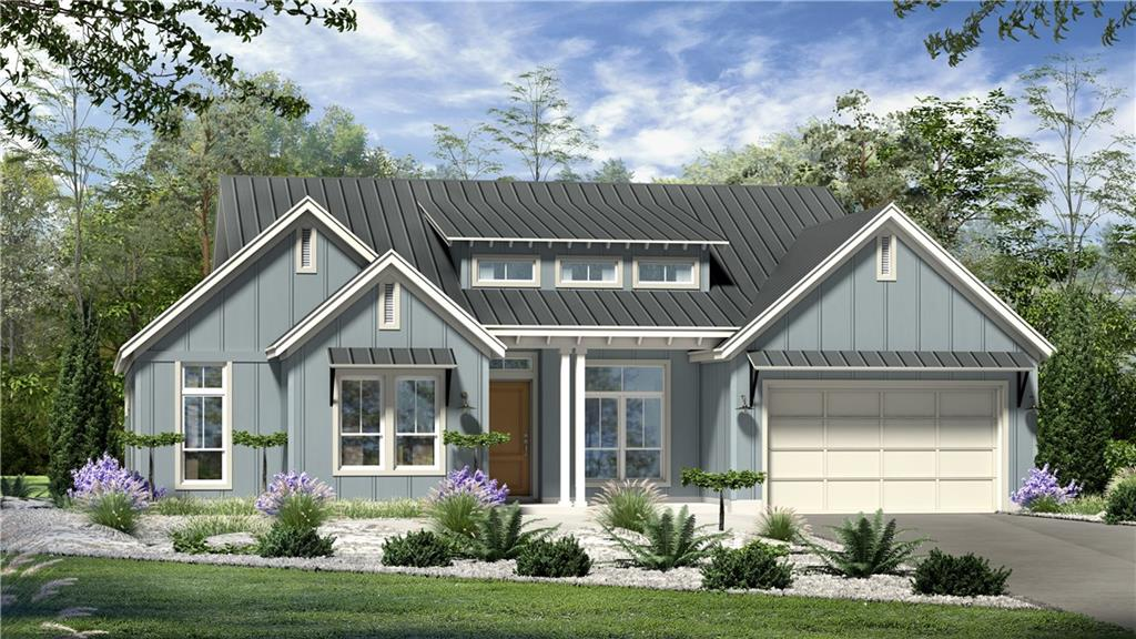 Beautiful home in Kissing Tree - Vassar floor plan - modern farmhouse. The home has enlarged covered patio on a corner lot near a neighborhood exit. Kitchen with large island, open to family room with double wall ovens, dark cabinets throughout. Beautiful tile/hardwood floors! Three bedroom, 2.5 baths.  Master bedroom/bath - double vanity, large walk-in closet. Three bedroom, 2.5 bath and 2 car garage. Completed Fall of 2020.Restrictions: Yes  Sprinkler Sys:Yes