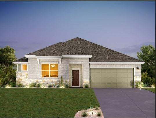 """NEW CONSTRUCTION BY ASHTON WOODS! Available Oct 2020! Beautiful curb appeal! Three sides brick and stone on a great south-facing homesite. Professionally designed decor with white linen shaker-style cabinets, 36"""" stainless steel cooktop with separate built-in appliances. Stylish durability of wood-look tile in all common areas. Ending with a 12 x 22 extended covered patio.FEMA - Unknown Restrictions: Yes  Sprinkler Sys:Yes"""