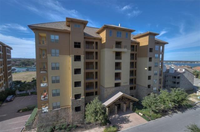 A Must See furnished 2 bed/2 bath Waters Condo in Building #3. Great open floor plan...terrific for entertaining!Located on the 2nd floor with views of Lake LBJ and the Texas Hill Country. It includes one personal covered parking space and a lockable storage cage/closet. The condo is one of the top producing units in the Resort Rental Program. Owners are Resort Members and a separate membership is necessary to enjoy the amenities & remain in the Resort Rental Program. Perfect Lock & LeaveFEMA - Unknown Restrictions: Yes  Sprinkler Sys:Yes