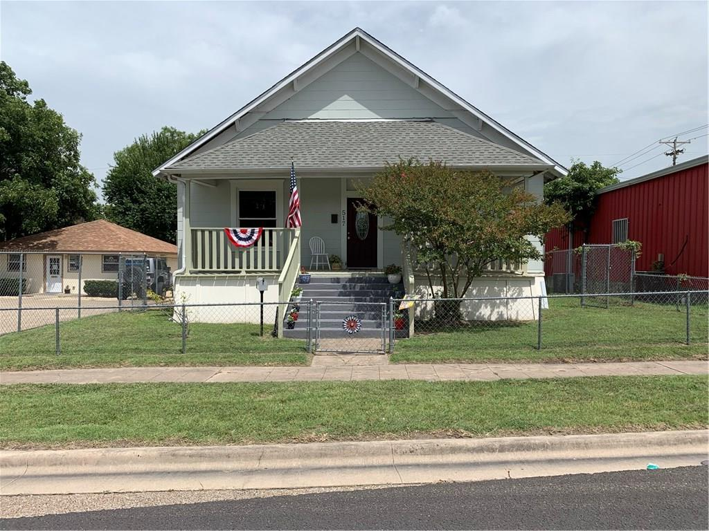 This 3 bdrm 2 bath home has fresh paint inside and out, new carpet, new upgraded laminate floors in kitchen and entry, Window World double pane vinyl windows, with life time warranty, new faucets in kitchen, new cook stove, new skirting, architectural shingled roof approx 3 yrs old with gable vents, and the HVAC is approx 3 yrs old.  Enjoy the large split bedrooms with ceiling fansin each bedroom. This home is located close to schools, shopping, medical facilities with easy access to I-35.Restrictions: Yes