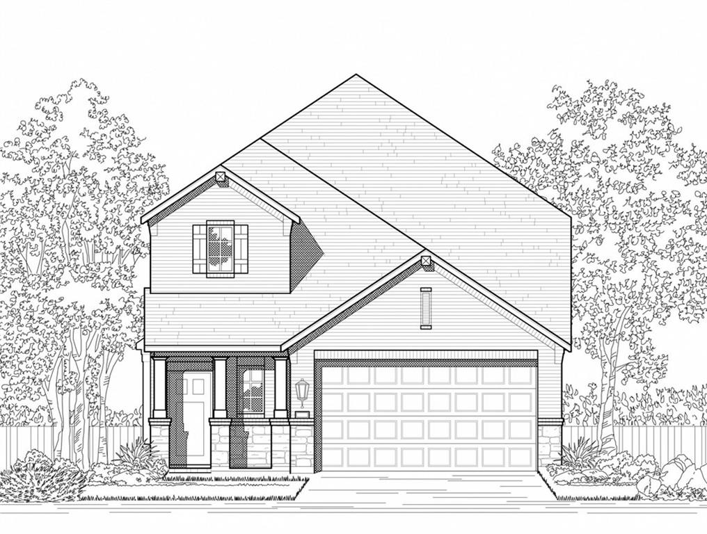 MLS# 4034983 - Built by Highland Homes - December completion! ~ Awesome 2-story, master, study, family down. lofted game room, 2 bdrms up. 4-sides brick, front landscaped, trees, sprinkler, sod. garage door opener,  pendant lights at kitchen island. Gas heat.