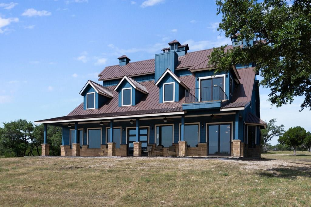 One of a kind 577 acres in iconic Hill Country. .25 miles of Cow Creek running through the front of the property. A 2 story 4,271 sq ft home was recently completed with 4 bedrooms, 3.5 baths, 2 fireplaces, a large pantry, utility room, granite counters, & top of the line appliances. Also a beautiful 1 bedroom, 2 bath cabin with a fenced yard and water in front. 12,000 sq. ft recently built building with a 3-ton winch & air-conditioned feed room sits nearby. 10 varieties of exotics included. 3 wells.Guest Accommodations: Yes Restrictions: Unknown