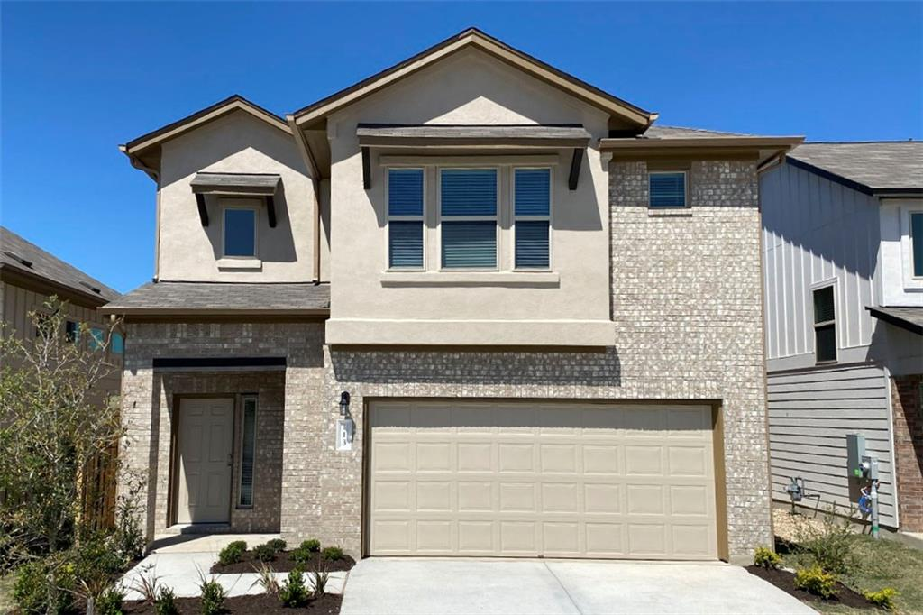 """Restrictions: Yes Due to Covid-19 all home showings are by appointment only. Brand new Larkspur home. Harmony plan. All bedrooms + game room up. Covered patio, SS appliances, tile, 42"""" cabinets, island, granite. Walk in Master shower. Award winning Leander ISD. Glenn HS. Larkspur Elementary in neighborhood. Walk to amenities: pool, splash pad, fitness center, covered playscape, hike/bike trails, & San Gabriel River access. Milestone Community Builders. Estimated December 2020 completion."""