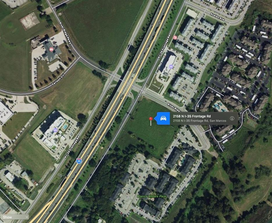 Restrictions: Yes I-35 frontage lot with over 4.7 acres, Ag-Exemption on the North side of growing San Marcos and not far from Kyle.  High traffic count and easy access.