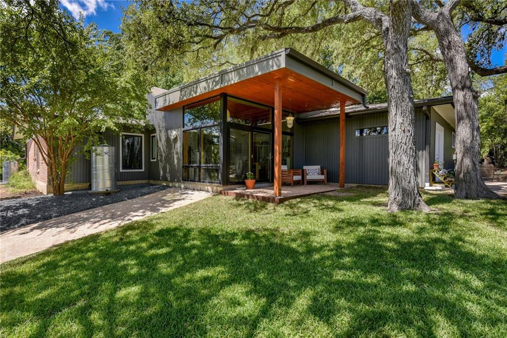 Updated main house 1800sf single story 3/3 PLUS office, with 750sf attached 1/1 ADU w/fresh paint & separate entrance (rent $1100/mo) on a near 1/2 acre lot.  1 of 4 homes with private access to The Grove.  Main house renovated & designed by award-winning architect Murray Legge.  Premium clad windows, white oak hardwoods, Caesarstone counters, and stainless Bertazonni appliances.  Rainwater collection, tankless water, new AC (2019). Flat lot for pool.Guest Accommodations: Yes Restrictions: Yes Comm. Features: Health Club Discount