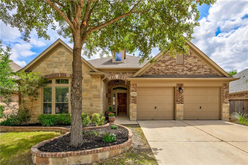 Splendid one story Leander home in excellent location! Amenities center featuring a junior Olympic pool, kids spray and play area, disc golf course, fishing lake with a fountain. Grotto-style pool with waterfalls. Tennis courts, playgrounds, and hiking and biking trails. Home features a fabulous floor plan. Wood floors. Office, formal dinning. Bright & light layout w/flexible floorplan boasting high ceilings, gourmet kitchen. Secondary bedrooms + study/flex rm. Please call/text agent before showing.