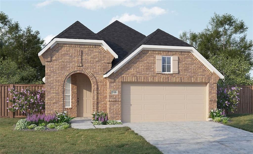 Horizon floor plan with features that include kitchen island with granite counters, large master walk in closet, optional kitchen layout, double vanity in master bath, covered patio, stone accents. Available October.Restrictions: Yes  Sprinkler Sys:Yes