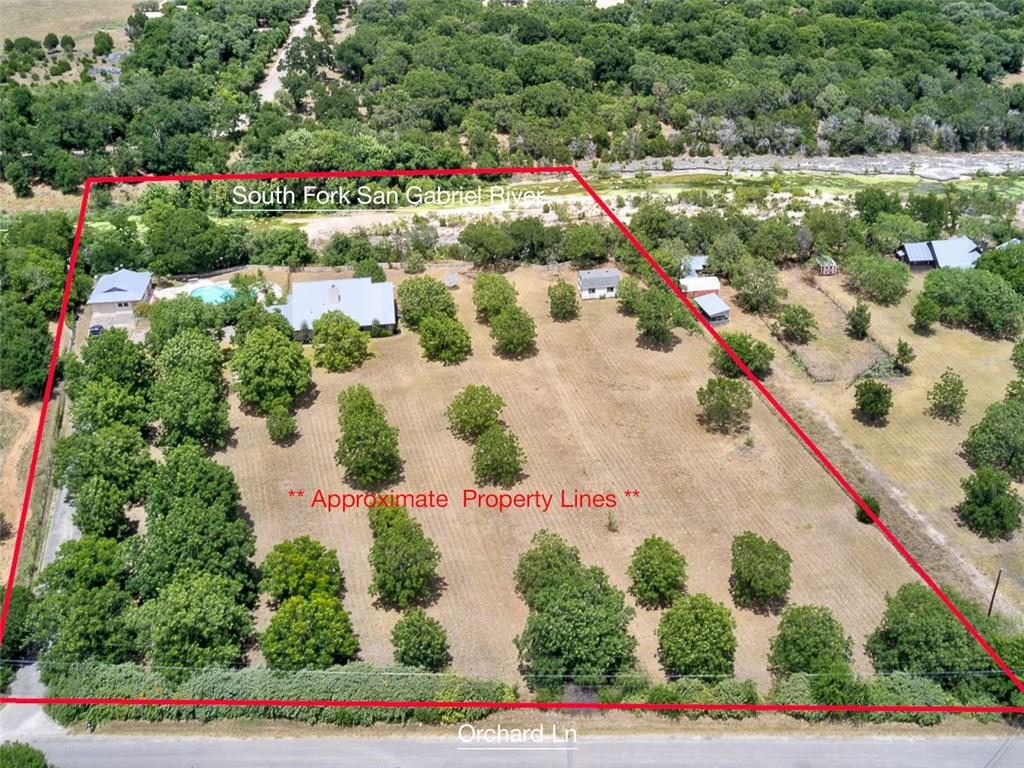 Rare opportunity to own 5 acres of riverfront on the San Gabriel ~ The home is nestled between a pecan orchard in the front & oversized pool/ hot tub and guest house in the back. The main home features an open floor plan with multiple downstairs living areas and an upstairs game room. Plenty of outdoor entertaining spaces to create your own private oasis. 800 sq ft guest house features a kitchenette and full bath. Seller will need 30 days leaseback. PRE-QUALIFIED BUYERS ONLY - SEND PRE-APPROVAL