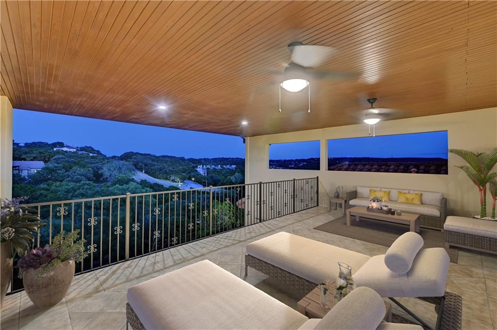 This Mediterranean Modern home on 1.68 acres is a show-stopper that will fulfill an entertainer's dream! The luxurious home offers a private sunset balcony in front, two generous balconies in back all overlooking Northwest Hills, pool, hot tub, sport court, home gym, home theater and game room. Enjoy exceptional proximity to Downtown, Domain, Lake Austin, Lady Bird hike & bike trails and enticing dining, shopping, music and entertainment options including the flagship Whole Foods within a 15 minute drive. Sprinkler Sys:Yes