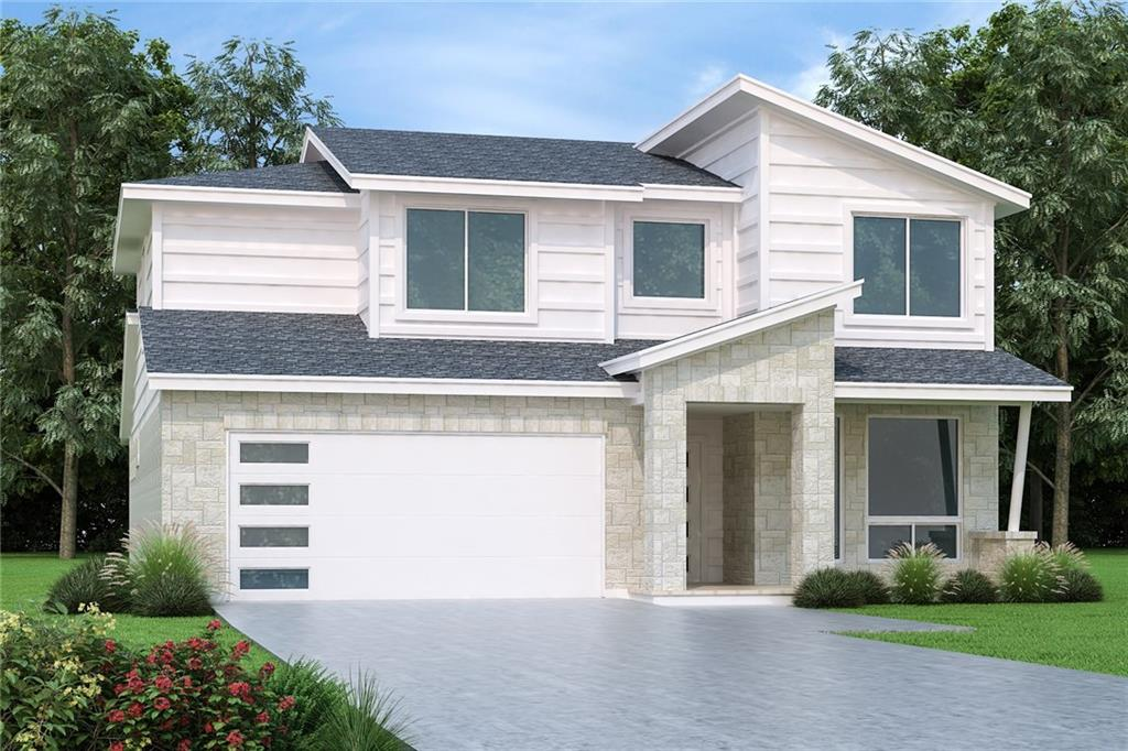 Contemporary modern design new construction! Open floor plans with energy-efficient 2 x 6 exterior walls and double water protection. This home offers 3 bedrooms, 2 bathrooms and 2-car garage. Features include bonus room up, breakfast area, covered patio, dining room, family room, patio, vaulted ceiling and walk-in closets. Home has many popular upgrade features offered such as barn doors, shiplap walls, faux cedar beams, expansive walk-in showers, quartz countertops, smart home features, luxury wood-like tile flooring and extended patios. Come visit us at our Model home at 105 Citation Drive in Jarrell, TX!  Amenities will include 2.5 acres of park, a splash pad, bbq & picnic area.