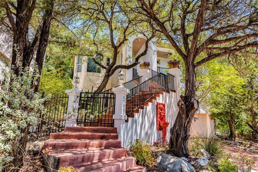 Have you been searching for a home as full of uniqueness & character as Austin? This multi-level gem is IT! This custom build boasts distinct design features & a whimsical floor plan with an elevator, colorful party/media room with bar & a privately entranced guest quarters w full kitchen & bath. Elevate your senses on your balcony, basking in the picturesque valley views. Delight your inner outdoorsman with your Secret Garden like backyard. With its prime location in the NW Hills, this home has IT ALL!FEMA - Unknown Guest Accommodations: Yes Restrictions: Yes
