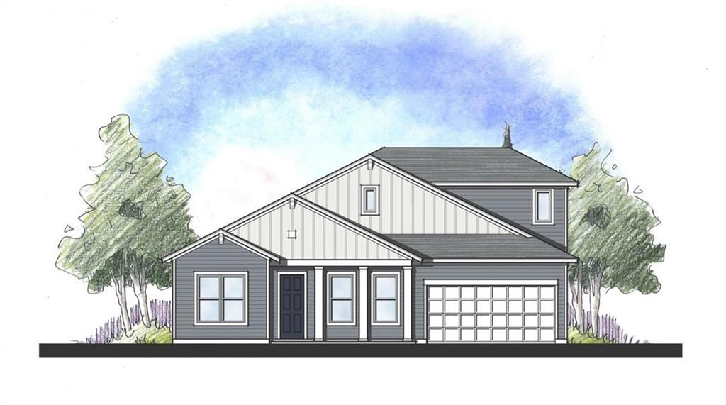 MLS# 2346310 - Built by Dream Finders Homes - December completion! ~ Beautiful 5 bedroom home. 4 bedrooms on main level. Gourmet Kitchen, farm sink, natural gas, and fireplace. Nice open concept modern farm house. Beautiful views. HOA has 2 pools, full gym. Spectrum internet included!
