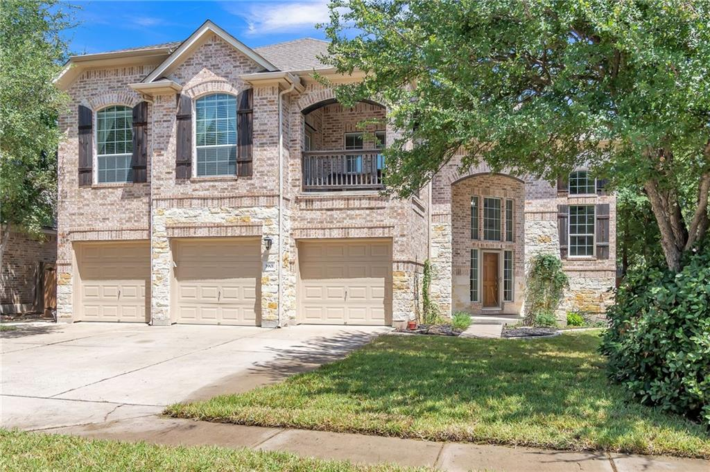 Gorgeous south-facing home in highly desirable Ranch at Brushy Creek. 5BR/4 full BA home + media room, separate office. Media room wired for speakers. 2nd floor balcony. Private fenced, treed backyard. 3 car garage w/ built-in cabinets. Two water heaters and kitchen appliances less than 1yo. Custom, built-in TV cabinet in living room with wall mount and hidden wiring. Stone fireplace in living room. Outdoor kitchen w/ built in grill, plumbed for fridge. Close to RBC community pool, trails, and playground.Guest Accommodations: Yes