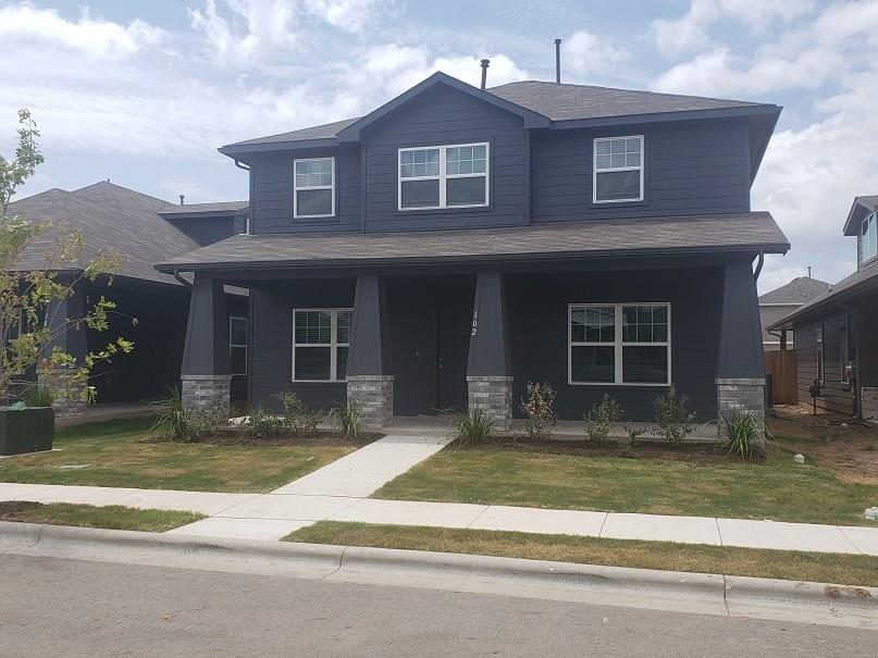"CastleRock Communities new neighborhood has homes ready now for you to enjoy! Great open floor plan with great room open to kitchen and casual dining!  Study down with french doors for added privacy!  Owner's retreat on first level with garden soak tub and shower.  Secondary bedrooms and gameroom up provides a second living space! Features include 42"" cabinets, Granite counters at kitchen, Upgraded kitchen backsplash, full sod and irrigation!Restrictions: Yes  Sprinkler Sys:Yes"