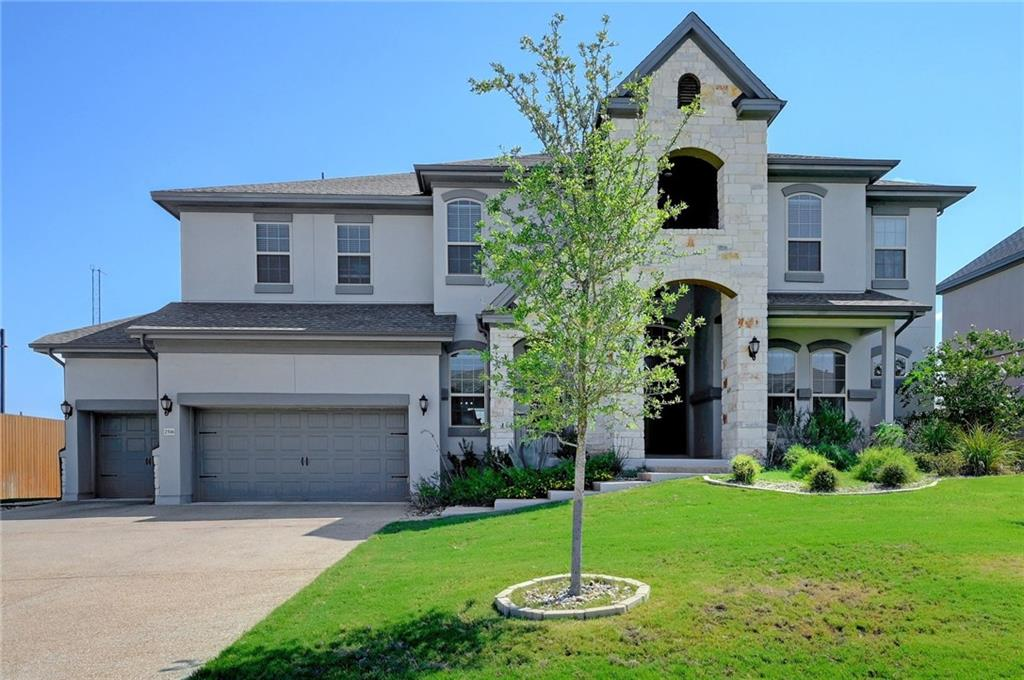 2018 Built by Taylor Morrison, Awesome Plan, Lots Sunlight, Large Greenbelt Lot w/ room for a POOL, Fabulous Hill Country Views, 2 Spacious Covered Patios, Front Porch, Master BR Suite on Each Level,4 Full Baths w/Double Sinks + Powder. 4 Living Areas w/Media Rm, High Ceilings, 4 Car Gar, (1 is tandem w/ shelving) Extended Driveway, Open Kitchen features XLarge Island & Breakfast Nook. Wired for Sound, Fireplace, Wood Look flooring in MBR,Foyer,FR/Kitchen.Guest Accommodations: Yes Restrictions: Yes