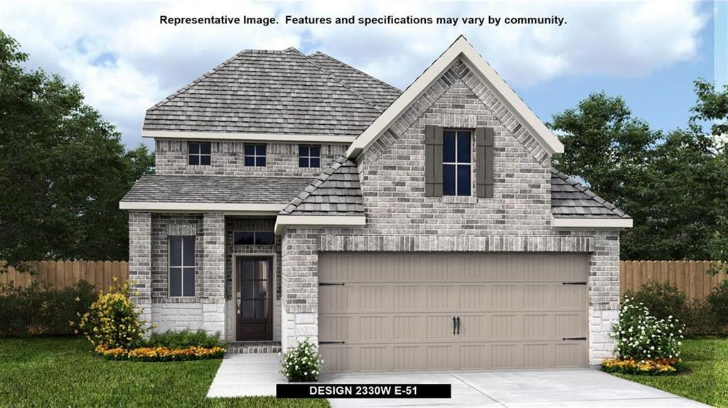 Perry Homes New Construction! Entry leads to open kitchen, dining area and two-story family room. Kitchen features walk-in pantry, generous counter space and inviting island with built-in seating space. Home office with French doors just across from kitchen. First-floor primary suite includes 10-foot ceiling. Double doors lead to primary bath, separate glass-enclosed-shower and two walk-in closets. A game room and two secondary bedrooms are upstairs. Covered backyard patio. Mud room off garage.Restrictions: Yes