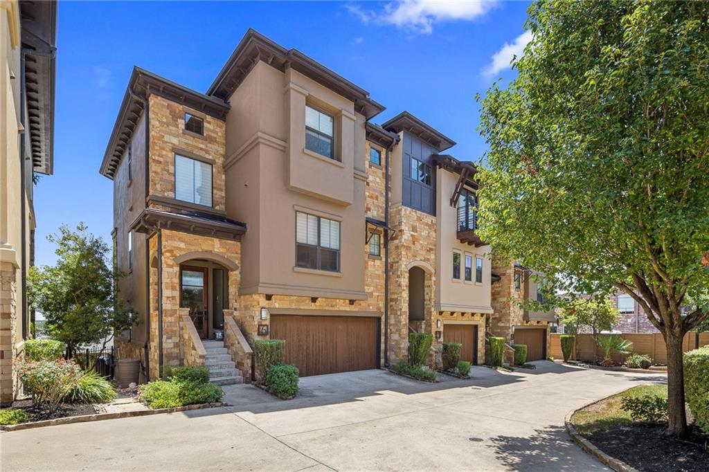 Restrictions: Yes Gorgeous townhome style condo w/city views in coveted NW Hills!  Chef's kitchen w/rich quartzite countertops, marble backsplash, eat-in center island, abundant cabinet & counter space & upgraded appliances  opens to large dining & living areas w/wall of windows. Commercial grade elevator recently installed. Primary bedroom w/spa-like bath + addt'l bedroom/en-suite bath upstairs. Large second living + office nook on lower level. Upgrades include whole house water softener, addt'l lighting & more!