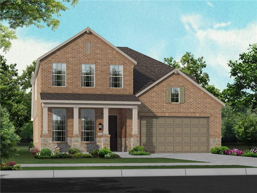 MLS# 9082102 - Built by Highland Homes - December completion! ~ Greenbelt view 4-sides brick Large covered patio Bay window at master Vinyl plank flooring in living areas, master bedroom, and gameroom Carpet in other bedrooms Tile in wet areasRestrictions: Yes