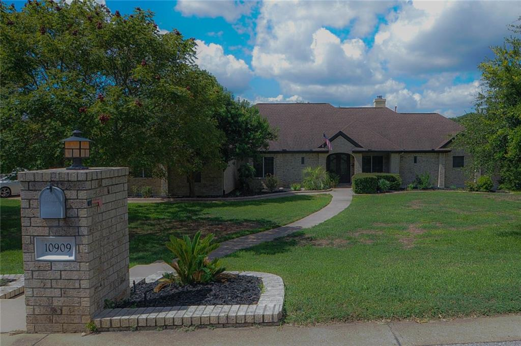 Here is your SLICE OF HEAVEN!! Rare 1 story on HUGE lot & backs to greenbelt w/ walking trails. Enter this UPDATED BEAUTY through custom CANTERA IRON DOORS into an expansive Family Rm. w/rich wood floors. This room flows to the GORGEOUS KITCHEN that was remodeled in 2015 w/ custom cabinets-SS Appliances. Wood flrs flows into all bedrms! The Fam.Rm. opens into the SUN ROOM w/ a wall of 8ft tall accordion glass doors. Then to a large Brazilian IPE wood deck. Bed 4 also makes a GREAT office or even a Game RmRestrictions: Yes  Sprinkler Sys:Yes