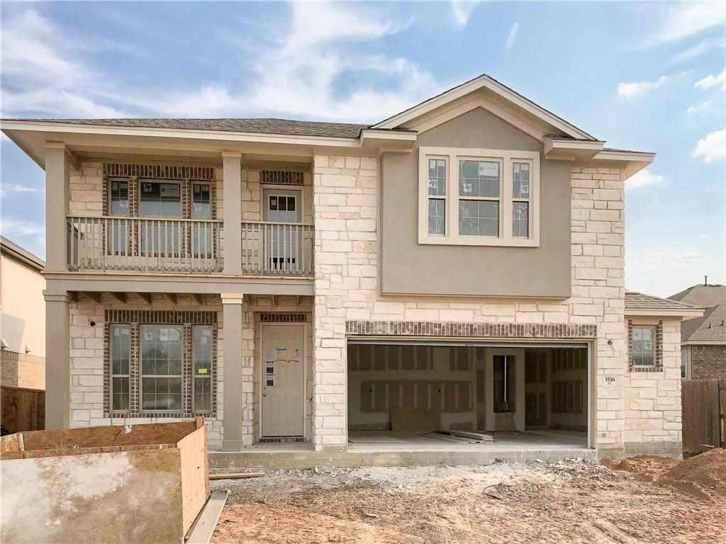 """Dec 2020 completion on this 3 bed/2.5 Bath/ Study/ Media 2546 SF home. XL Kitchen open to dining/ living. Kitchen includes 36"""" upper cabs, large island w/sink and sitting area, Granite tops and stainless appliance pkg.   Master bath w/walk in shower with seat, ceiling-height mirror, dual undermount sinks, granite top. Covered patio, full landscape pkg. Owner's Retreat is on main floor. Large/Deep 142ft deep lot; 57ft from back patio to rear fence.Restrictions: Yes"""