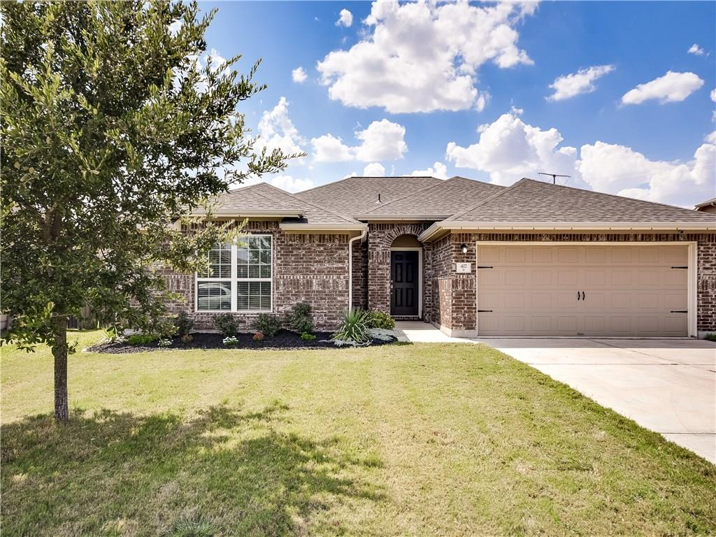 PRE-INSPECTED; UPGRADED home! Wide-open spaces w/expansive freshly painted Family Room updated w/shiplap wall & entertainment alcove open to kitchen & breakfast areas. Upgrades continue into breakfast area w/farmhouse style light fixture, & kitchen's stainless appliances w/refrigerator (negotiable). The Owners' Suite is a place of relaxation w/King-size space spilling into a generous sitting area - perfect as an office/library. Owners's bath offers separate shower & garden tub. Custom cabinets in garage.Restrictions: Yes