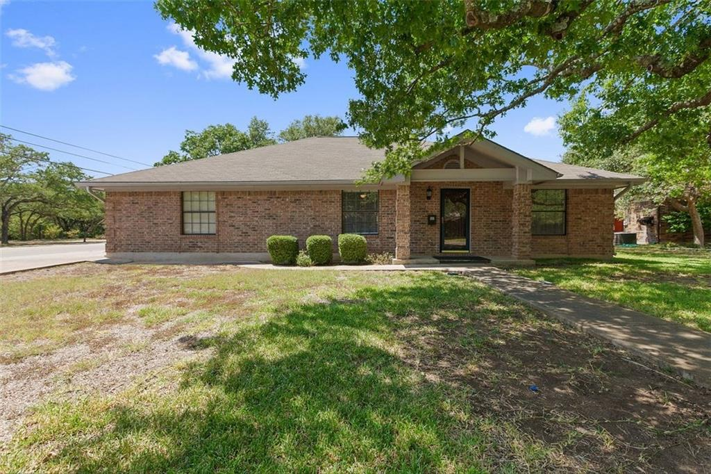 Rare opportunity to own all brick home with no HOA in the heart of Cedar Park, TX. Maintained with tender loving care, home has 3 bedrooms, 2.5 baths, and flex space, making a perfect study. Spacious 2 car garage with a half bath. Double-wide, side entry gate offers easy access to covered parking area for boat or RV. 12 x 20 workshop has power, ideal for hobbies or storage.  Large 1/4 acre corner lot with yard space and trees. Fresh paint, recently installed vinyl plank flooring complete the property.FEMA - Unknown Restrictions: Yes