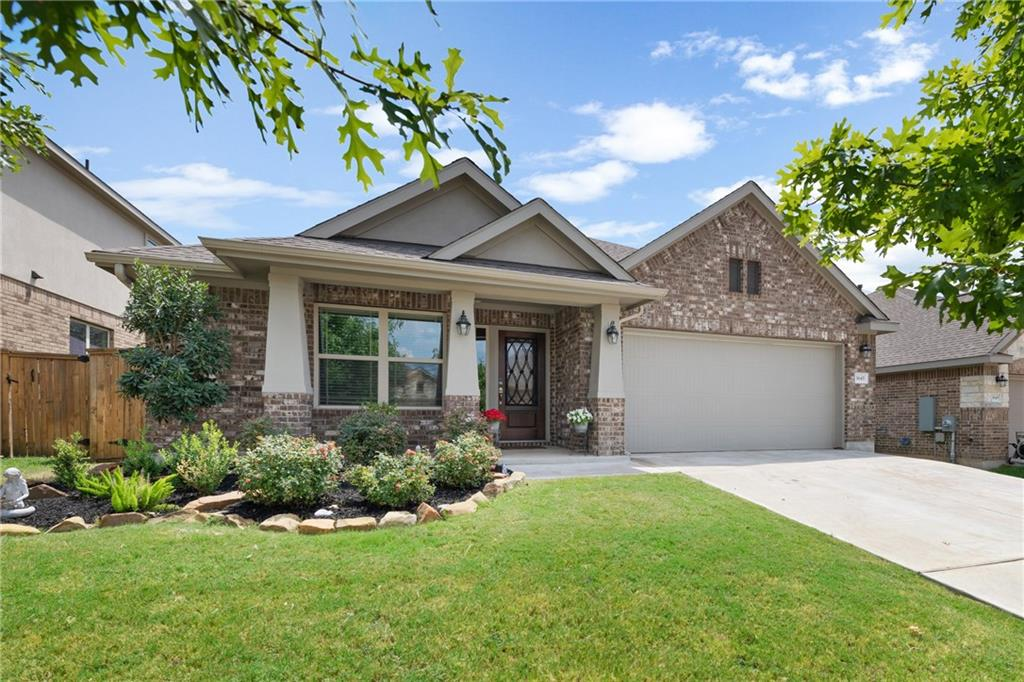 Beautifully Maintained Mayfield Ranch Home; With its 2020 screened-in porch, beat the heat while enjoying your yard that boasts no back neighbors, river rocks on the side, & a lg oak tree. Be left in awe as the open floorplan offers wood floors, angled ceilings, 2019 carpet, & a stylish entertainment center in the LR. W/lovely peek-a-boo windows, the kitchen boasts cabinetry galore, granite island and breakfast bar, & SS. In addition to the office w/french doors, the home also has a flex space/Den!FEMA - Unknown Restrictions: Yes