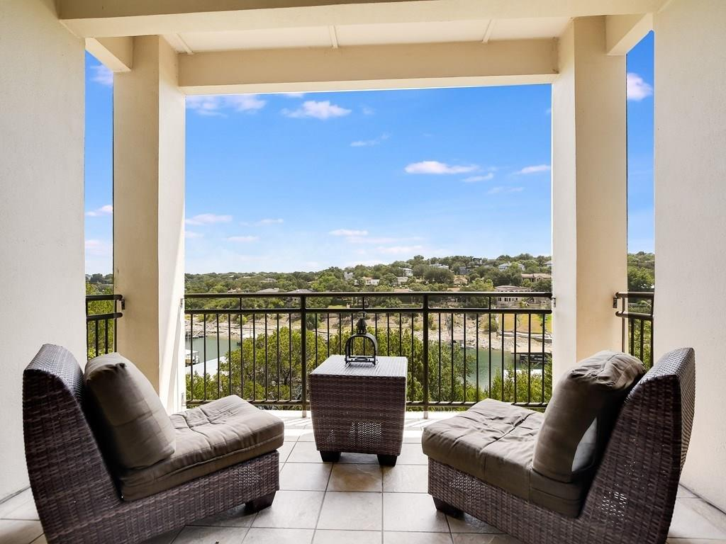 Luxury Lakefront Condo. This elegant 3/3 in Marina Village Lakeway features high ceilings, recessed lighting and a partial open living concept. Home is wired For Security, Stereo and Surround Sound. Spacious kitchen includes a Breakfast Bar, Granite/Marble countertops, Stainless Steel appliances, Pantry and Center Island with electric and extra storage. Take in more Hill Country, waterfront views from the master suite. Master bath includes ample storage, Double Vanity, Granite Countertops, luxurious...Restrictions: Yes