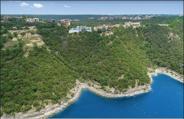 """This is a """"to be built"""" - conceptual plan by Jenkins Custom Homes presented in this listing. Home can be designed and configured to Buyer's specifications.  Incredible 5 acre waterfront Lake Travis lot on the main basin with HUGE panoramic lake and sunset views over the water.  Fabulous location near the iconic Oasis restaurant. Only 16 miles to downtown Austin in one of Austin's highest rated school district's - Leander ISD. Lot is not builder restricted, plans presented are conceptual in nature.Guest Accommodations: Yes Restrictions: Yes  Sprinkler Sys:Yes"""