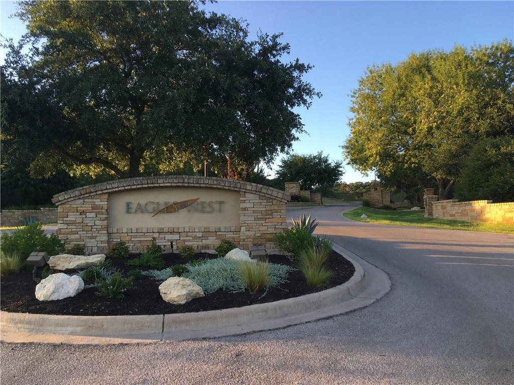 17.45 Acres inside the popular security gated Eagles Nest Subdivision.  Builder opportunity for a multi-acreage single private home site or divide into two, three, or more home sites.  Hill Country Views and numerous tree covered acreage.  Property has been paper platted with the City of Burnet for 13 single family residential lots.Restrictions: Yes