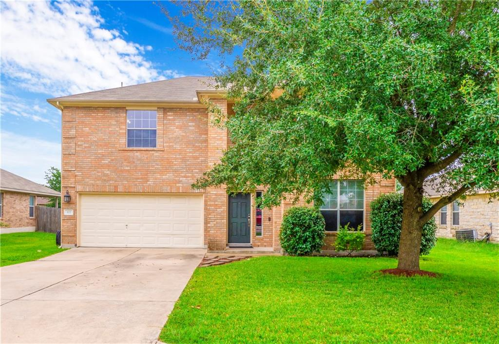 Located in fast growing Hutto this 4 bedroom home is located close to the elementary and high school. Formal living plus family room and upstairs bonus allows for three living areas. Spacious kitchen with plenty of storage. Main level owner's suite with walk-in closet, shower and soaking tub. Three bedrooms upstairs, 2 of which share a Jack-n-Jill bath. Automated front door locks, HVAC and garage door accessed from your smart phone! Garage w/large work bench and storage. HVAC just 2 years old.Restrictions: Yes