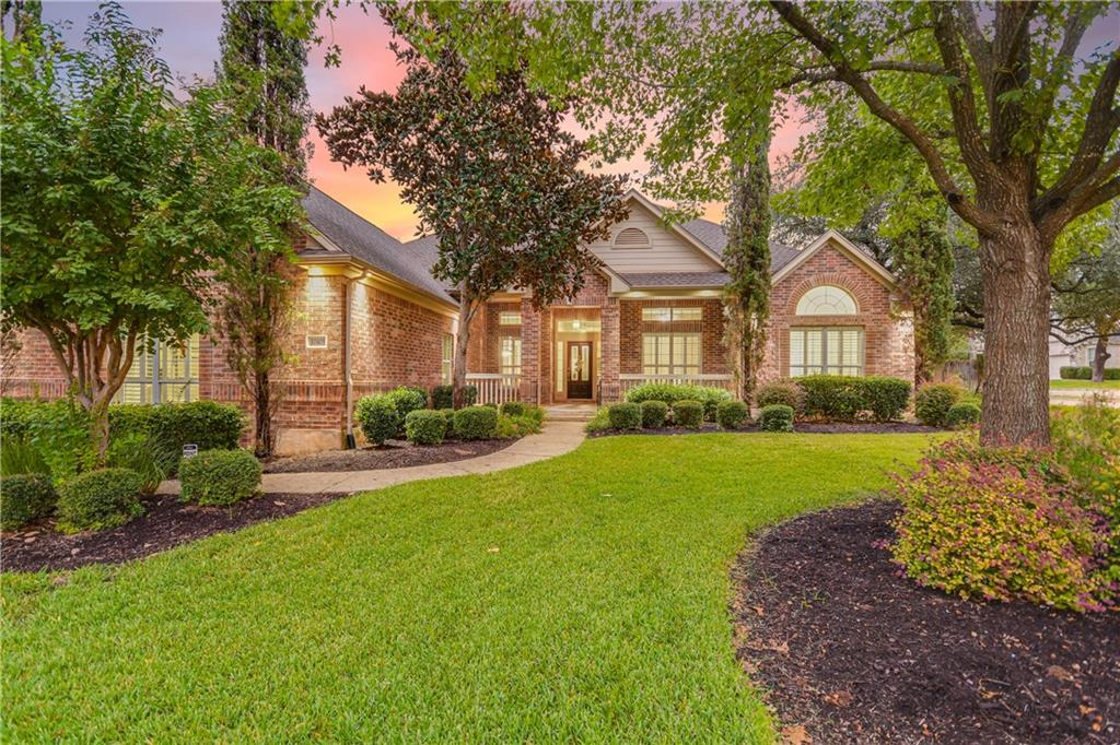 """Currently available in Creekside of Avery Ranch is this Morrison built """"Landry III"""" floor plan. Beautifully situated on a corner lot that showcases this 5 bedroom, 4 1/2 bath home.  Features include stainless steel, granite, crown molding, wood and tile floors, large primary bedroom suite with dual sinks, garden tub, separate shower and walk-in closet, side entry 3 car garage and if thats not enough, a beautifully landscaped backyard with heated pool and spa for easy entertaining.  Most living space is on main floor with one bedroom, gameroom and full bath upstairs. Offers a large kitchen with generous granite counter space, double ovens, gas cooktop, center island and breakfast bar.  Round Rock ISD School district."""