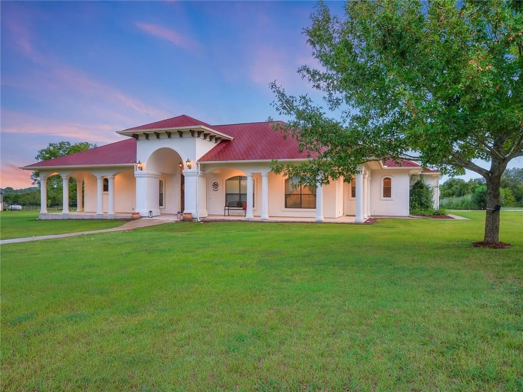 """NEW LISTING NEAR HAYS CITY! SPANISH STYLE 3/3/2 CUSTOM HOME ON 2+/- ACRES W/A TEXAS """"KING RANCH"""" APPEAL! OPEN-CONCEPT KITCHEN BOASTS BRAZILIAN BLACK GRANITE, TUSCAN STAINED OAK CABINETS & PROPANE COOK-TOP! BONUS GAME ROOM LOFT OVERLOOKS THE GREAT ROOM W/THEATER STYLE SEATING AREA W/BAR HEIGHT SEATING FOR ADDITIONAL TV VIEWING W/FULL SIZE BAR W/SINK, WINE FRIG & ICE MACHINE - AN INTERIOR DESIGNER'S DREAM FOR ENTERTAINING! EXPOSED BEAMS! OUTDOOR PATIO! GREAT OPPORTUNITY & LOCATION BETWEEN AUSTIN & S.A.!FEMA - Unknown Restrictions: Yes"""