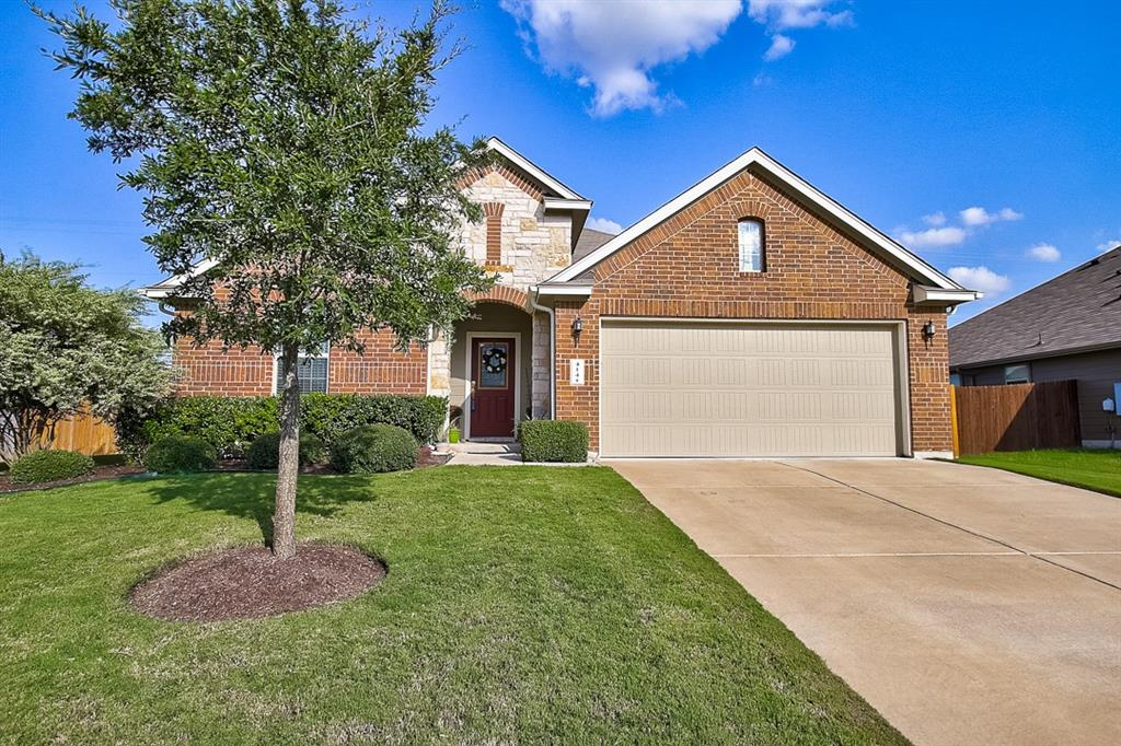 Beautiful home in close proximity to Hutto ISD. Location has minimal through traffic, the street ends at a cul-de-sac. Incredibly spacious floor plan. The kitchen is open to the living space, includes an   amazing island. This is the perfect space to entertain family and friends. This home features high ceilings throughout. The long inviting hallway is perfect for your family photos or art gallery. Great location with convenient access to shopping, dining and much more. This home is a great place to create  a nice cozy comfortable setting for you and your family.  A must see!