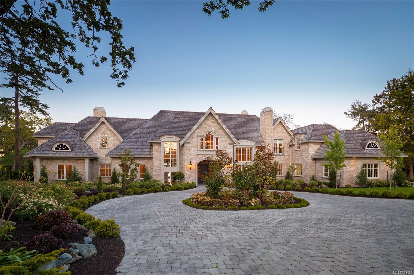 This Magnificent Waterfront Estate is ideally situated on a prized 1.67 acre level beachfront property along Victoria's most coveted stretch of oceanfront in in the heart of 'The Uplands'. Completed in 2016, the 11,900 sqft custom residence boasts a timeless and elegant design with beautiful hand-crafted finishing & appointments throughout, offering 5 oversized & luxuriously-appointed bedroom suites, 8 baths, and exquisite, generously proportioned rooms designed for both large-scale entertaining and relaxed & casual family living. The gated property boasts unobstructed ocean views to snow-capped Mt. Baker, with a pebble beach, 2 tiny private islands & easy waterfront access for paddleboards or kayaks. Expansive seaside terraces in imported bluestone are beautiful outdoor dining & entertaining spaces to enjoy, and the manicured grounds and expansive lawns surrounding the residence offer the utmost in privacy. There is simply no other property of its kind available on the market today.