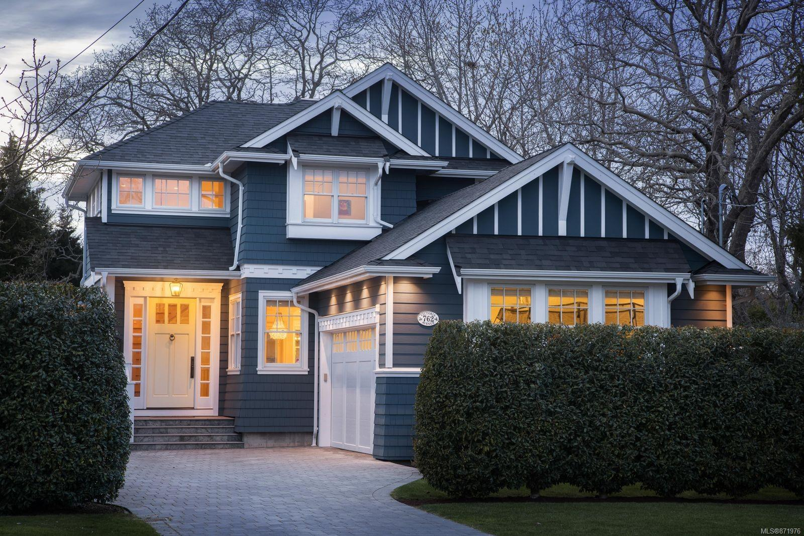 This stunning custom home is nestled in the heart of South Oak Bay, walking distance to Oak Bay Village, McNeil Bay and sought after public and private schools. The home has a West facing back yard that soaks the open concept main level in natural light all year round. No details have been overlooked and this home has all you'll need and more; beautiful wood floors, custom face-framed cabinetry, breakfast nook, coffered ceiling over the dining area, a butler pantry and den for those working from home. Upstairs, you will find a spacious primary bedroom and ensuite with soaker tub overlooking the rear garden. Second and third bedrooms are thoughtfully designed with Jack and Jill bathroom, built in desks, window seats, storage drawers and walk-in closets. The main level is not the only space to entertain as you'll find a home theatre and wet bar in the lower level of the home as well as a gym and extra bedroom.