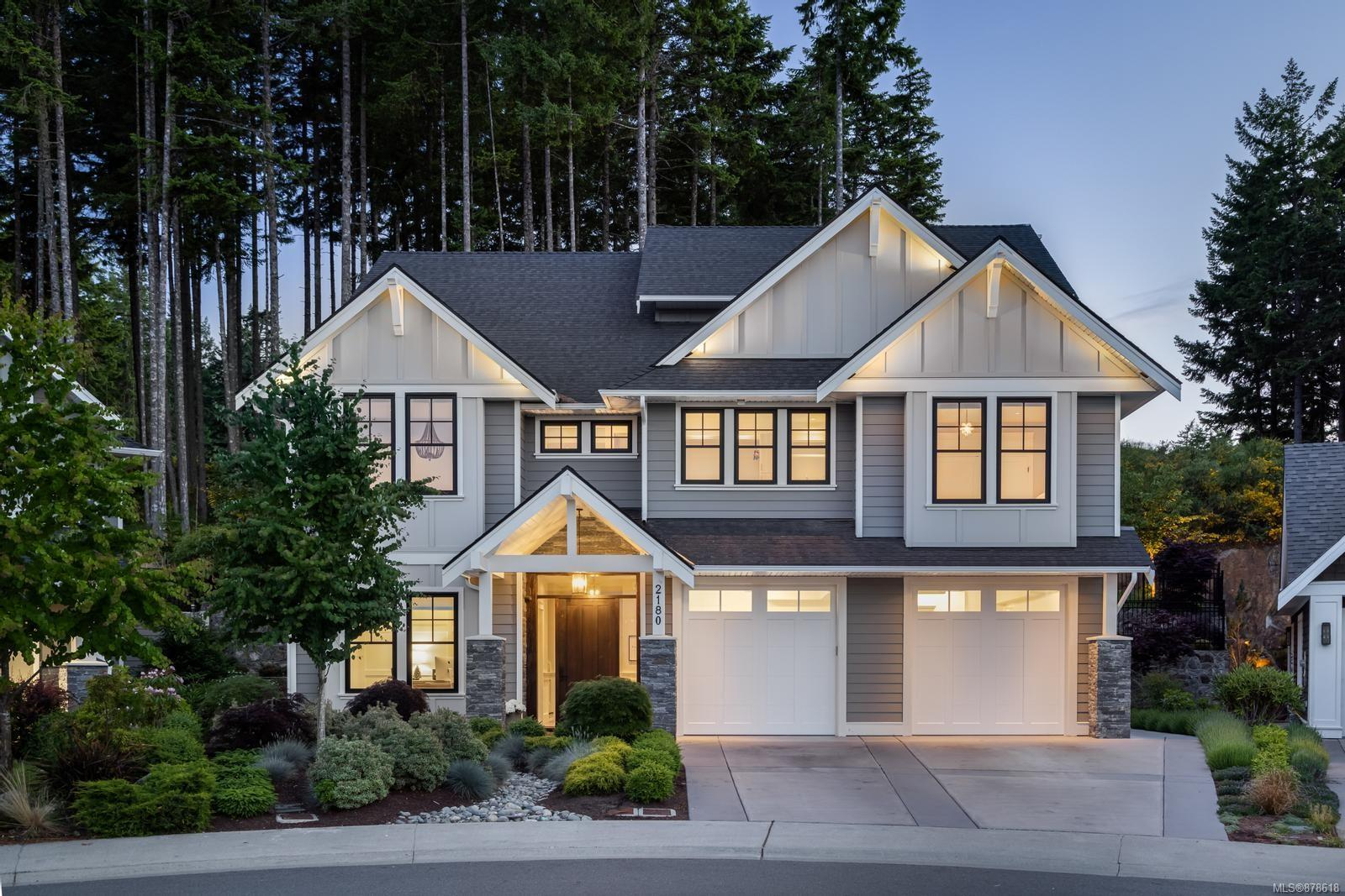"""Exceptional custom home located in one of Bear Mountain Resorts' most desirable neighbourhoods.Offering 5 beds/4baths over 3 levels this beautifully presented home offers fine detail and craftsmanship throughout.The entry level presents a heated tile entrance, a private office, media room with surround sound and bedroom with walk in closet and 3 piece bath. The main level boasts a grand vaulted living room with gas fp, stunning kitchen with 48"""" Decor gas stove, pot filler, walk in pantry with wine wall and dining area. Three additional bedrooms, a 5 piece bath and spacious laundry room.The private upper floor features the primary bedroom with a post and beam ceiling, oversized walk in dressing room and a 5 piece spa like bath. Enjoy entertaining on the sprawling outdoor patio complete with covered dining, built in fire bowl and a lite up 3 hole putting green. Don't miss the heated garage with finished floors, separate storage room and a full mechanical room. GOLF MEMBERSHIP INCLUDED!"""