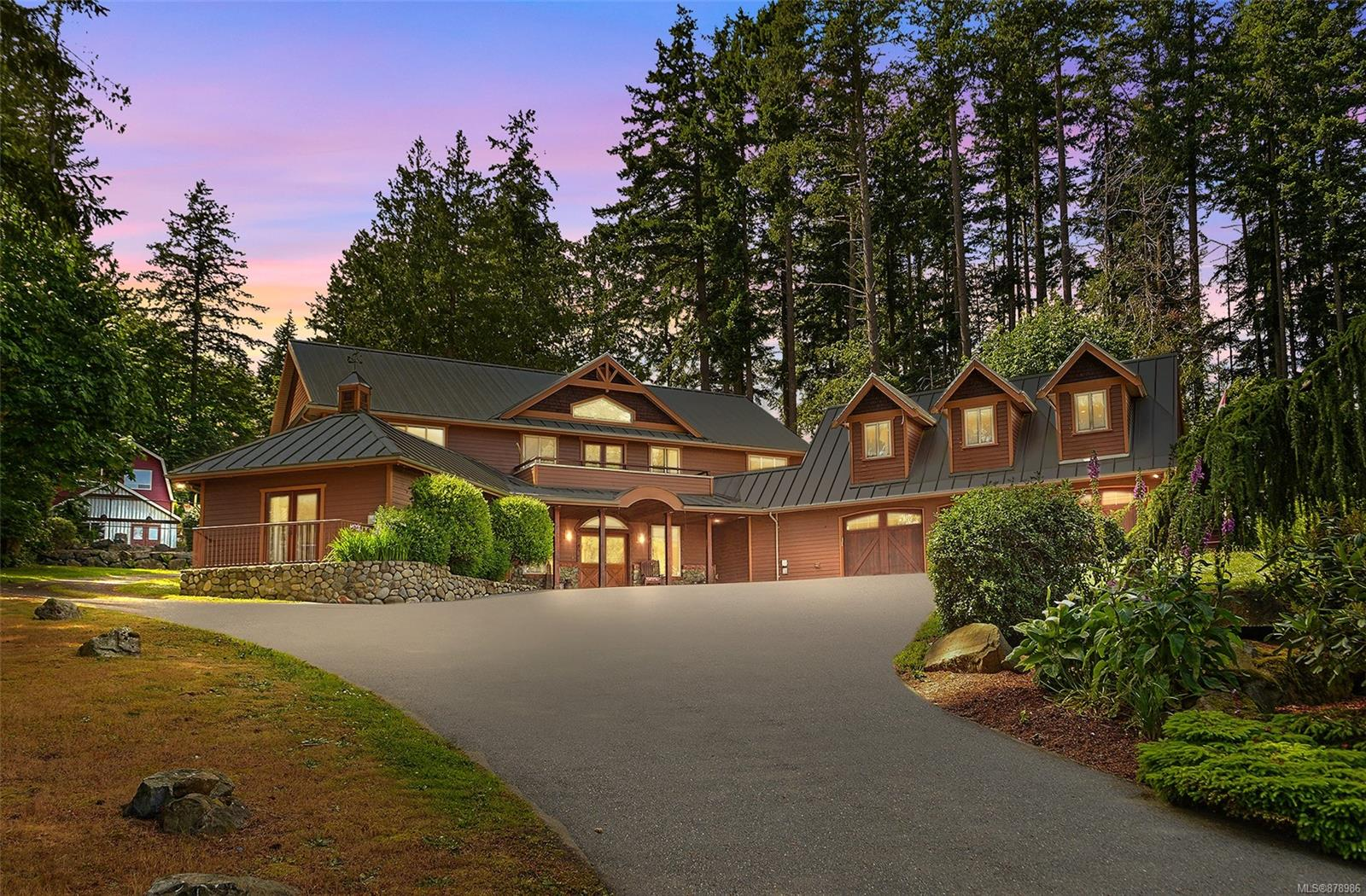 VIRTUAL O/H--> HD VIDEO, 3D WALK-THRU, DRONE, PHOTOS & FLOOR PLAN online. Amazing opportunity to own this spectacular one of a kind Cordova Bay upscale acreage! Over 7200sqft finished. 7bdrms, 7bthrms, 7FP's, 3 kitchens, dual access points to property, this rare offering is a must see! Sprawled over 1.44acres of pure tranquil peaceful living w/mountain/ocean glimpses from various points, you'll feel like you're on vacation year round! Main residence offers 5400sqft+ of quality open concept living, heated floors (main/upper), A/C in key rooms, primary bdrm on main w/spa-like bthrm, roaring 21ft ceiling in the living room w/FP, polished concrete floors, gourmet kitchen overlooking patio, dining, 2pce bth, gym, den & laundry. Upper offers 4 large bdrms, 2bthrms & laundry. Bonus nanny suite above the 3 car garage. Back of the property above the 2 car garage offers a 1bd inlaw suite w/laundry/views plus 400sqft+ office. You'll love the putting green, sports court & this amazing location!