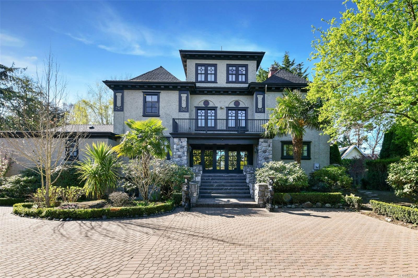 Rare Opportunity to acquire the South Oak Bay's most impressive residences designed and built by renowned Francis Rattenbury, the architect of BC Legislative building and The Empress, Located at the north side of Victoria Golf Course. A Great Setting Looking Over The Victoria Golf Course. Continuously upgraded and well maintained, in-floor heat, granite kitchen with hugh island, hi-efficiency boiler, windows, gas heaters and so much details. Luxury wallpapers for each individual rooms. Three balconies with great views on all sides. The gorgeous  living & dining rooms, high ceilings, cozy library, second sitting area & solarium, oversized Master suite with sumptuous 6-piece ensuite....and lots of options for either larger or smaller families! Incredible location on a quiet cul-de-sac, private .61acre property with 3 car garage with a lot of additioanl parking spaces.  Landscaped outdoor oasis around the properties. Best neighbours & neighbourhoods.  Come make this your Dream HOME!