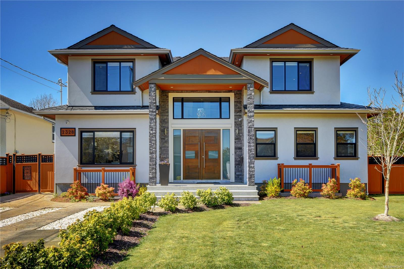 Welcome to 2328 Dunlevy st ! Centrally located at Oak Bay - Estevan.  Minutes walk to the shops & cafes of Oak Bay and Estevan Villages & easy access to Willows Beach. This Gorgeous home were built back in the End of 2018 with quality craftmanship. Main level features 4 pc en-suite (can be nanny room, office, guest bedroom) open concept family dinning area, Gourmet kitchen with high end commercial grade stainless steel appliances. Enjoy the sunshine with this west facing garden, sitting on this great size of patio (approx 600 sqft. ) with outdoor kitchen along with beautiful landscaped garden plus an amazing water feature. Upper level contains dual Master bedrooms with SPA like bathrooms and a spacious ensuite with 4 pc bath. Lower level comes with great Recreation room(pre wired for speakers and projector ) and separate guest bedroom (3 pc ensuite), Wine Cellar/storage.  This home is a must see. All measurement approx. verify by buyer if important. *** Seller is a licensed realtor.