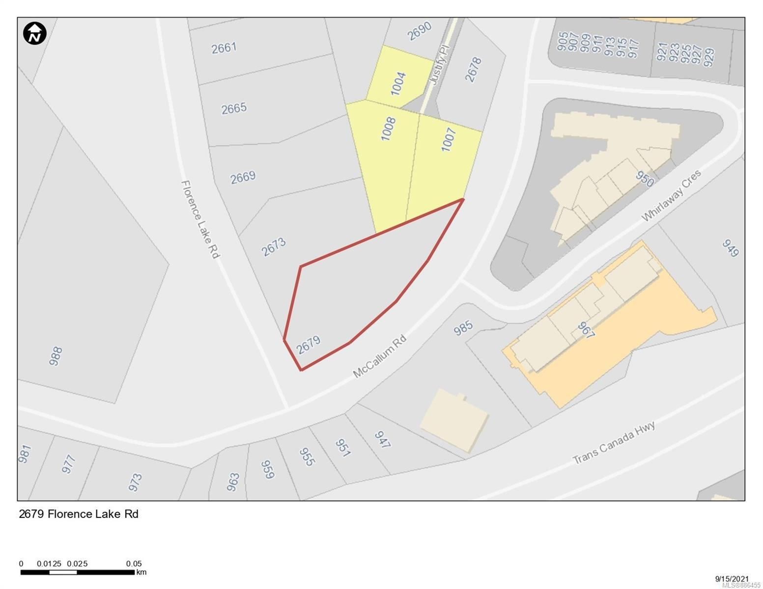 Land development opportunity in Langford. This parcel currently sits within the Neighbourhood OCP ***opportunity to amend OCP to higher density as per neighbouring property*** Located in the high demand Langford Florence lake area, this development opportunity features a property that is approximately 0.6 of an acre, or 26,134 sq/ft with a list price of $2,100,000.  Conveniently located near the Trans-Canada Hwy makes a quick connection to downtown or Up Island. Close to bus routes, Costco, Millstream Village and Bear Mountain's 36 hole golf resort! Please contact listing agents for more information on this exciting opportunity. All site details are approximate and must be verified with Langford if important to the buyer. **Please note that a neighbouring property has been approved for a 7 story condo with an amendment to the OCP**
