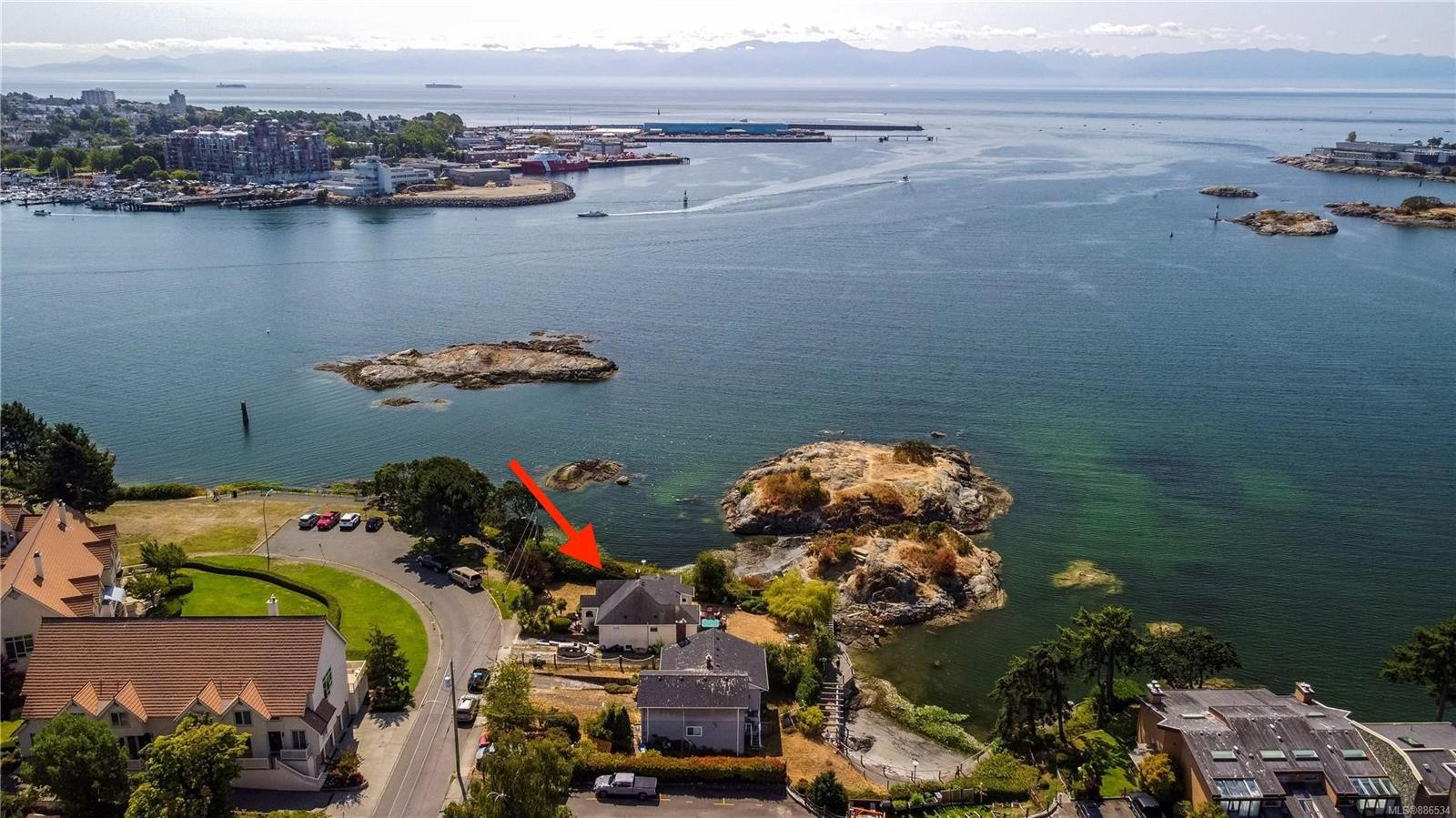 Attention Builders and Developers! Here is a RARE opportunity to own two properties in the desirable Waterfront neighbourhood of Vic West. A fantastic location with South and West facing views with the Olympic mountains in the backdrop, beautiful sunsets, and the lights of the inner harbour! Walk along the sea walk to downtown, kayak from your door step, or just sit back and enjoy the endless oceans views! Properties like these do not come to the market very often. Must be sold in conjunction with 216 Robert St (206 Robert zoned R-2 and 216 Robert zoned R3-G). This is an incredible opportunity to own two of the last pieces of property in Victoria's Waterfront and should not be missed!