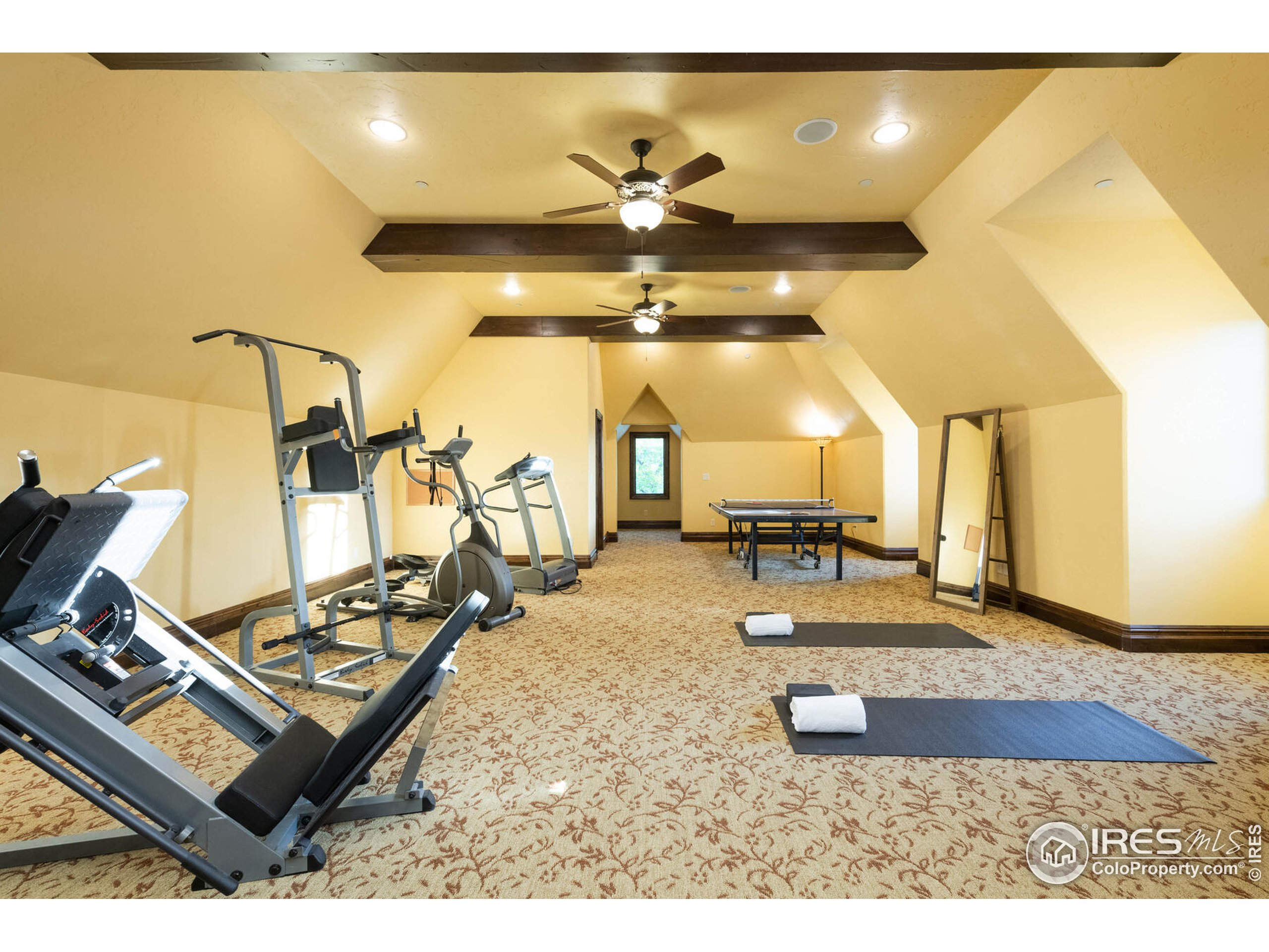 Upstairs Gym with Full Bath